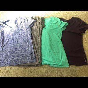Set of 4 dry fit tees